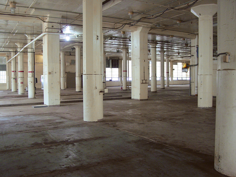 Interior shot of the Nabisco plant